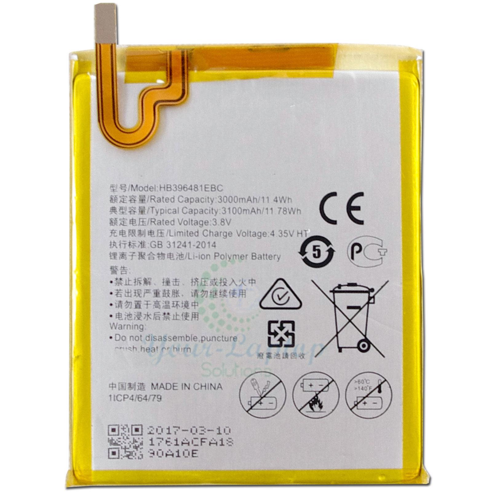 باتری موبایل هوآوی مدل HB396481EBC با ظرفیت ۳۰۰۰mAh مناسب برای گوشی موبایل هوآوی G8