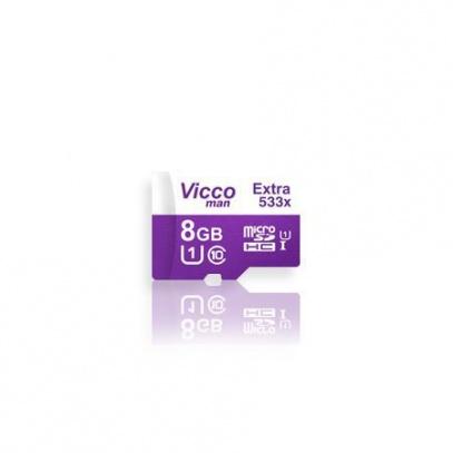 کارت حافظه میکرو اس دی ۸ گیگابایت ViccoMan Extra 533x UHS-l U1