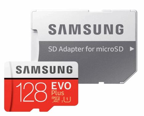 کارت حافظه microSDXC سامسونگ مدل Evo Plus کلاس ۱۰ استاندارد UHS-I U1 سرعت ۸۰MBps همراه با با آداپتور SD ظرفیت ۱۲۸ گیگابایت
