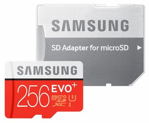 کارت حافظه microSDXC سامسونگ مدل Evo Plus کلاس ۱۰ استاندارد UHS-I U1 سرعت ۸۰MBps همراه با آداپتور SD ظرفیت ۲۵۶ گیگابایت