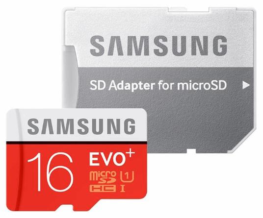 کارت حافظه microSDXC سامسونگ مدل Evo Plus UHS-I U1  ظرفیت۱۶ گیگابایت