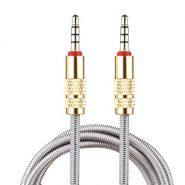 کابل انتقال صدا فلزی 3.5 میلی متری گلد به طول یک متر