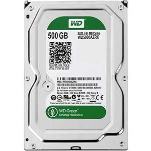 هارددیسک اینترنال برند وسترن دیجیتال سری سبز مدل WD5000AZRX با ظرفیت ۵۰۰ گیگابایت