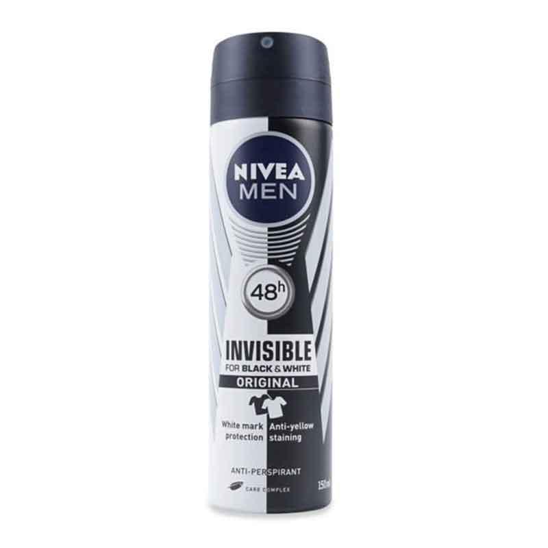 اسپری مردانه نیوآ مدل Invisible Black and White Original