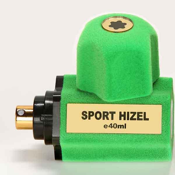 ادو پرفیوم هیزل مدل SPORT رنگ سبز فسفری