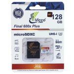 کارت حافظه ۱۲۸ گیگ ویکومن Vicco Final 600x Plus U3 A1 90MB