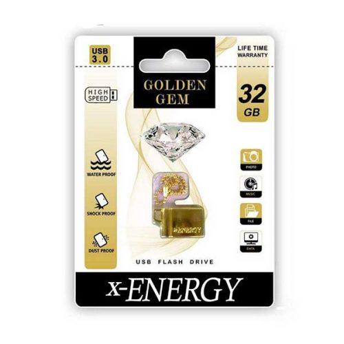 فلش مموری ایکس-انرژی 32گیگ مدل GOLDEN GEM-A